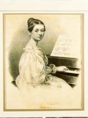 Clara Wieck at the age of 15