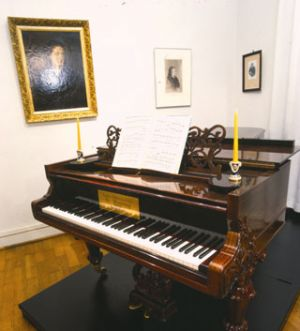 "Piano sold to Japan after its exposition at the ""Clara Schumann"" exhibition in Bonn in 1996, Ernst-Moritz-Arndt-House (StadtMuseum Bonn) Tokio, Musashino Academia Musicae Foundation"