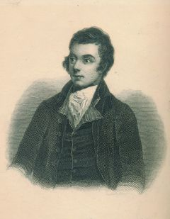 Steel engraved portrait from: Robert Burns, The Poetical Works, Leipzig (Tauchnitz), 1845 (StadtMuseum Bonn)