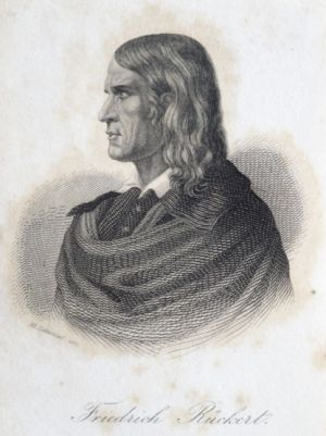 Friedrich Rückert (1788-1866) Steel engraving by Karl Moritz Lämmel, around 1850 (StadtMuseum Bonn, SMB 2012/170)