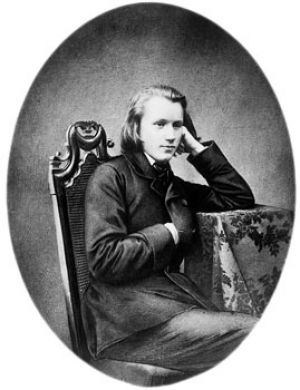 Johannes Brahms at the age of 20