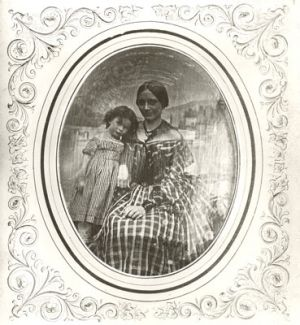 Clara Schumann with her first born daughter Marie