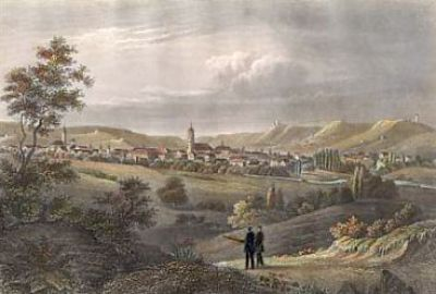 Jena, Steel engraving, around 1840 (StadtMuseum Bonn)