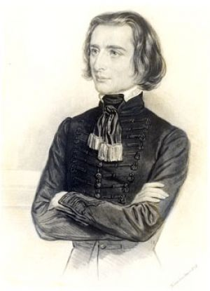 Franz Liszt at the age 27