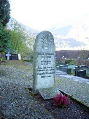 The Schumann tomb at the cemetry Gsteig near Wilderswil