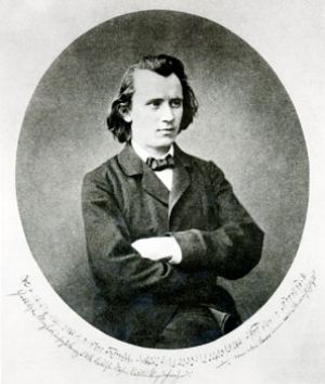 Johannes Brahms as young man at the age of approximately 28 years