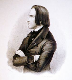 Franz Liszt at the age 30
