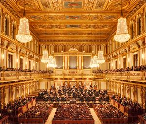 Golden Hall of the Musikverein concert house in Vienna