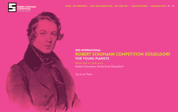 2nd International Schumann-Competition for young pianists Düsseldorf