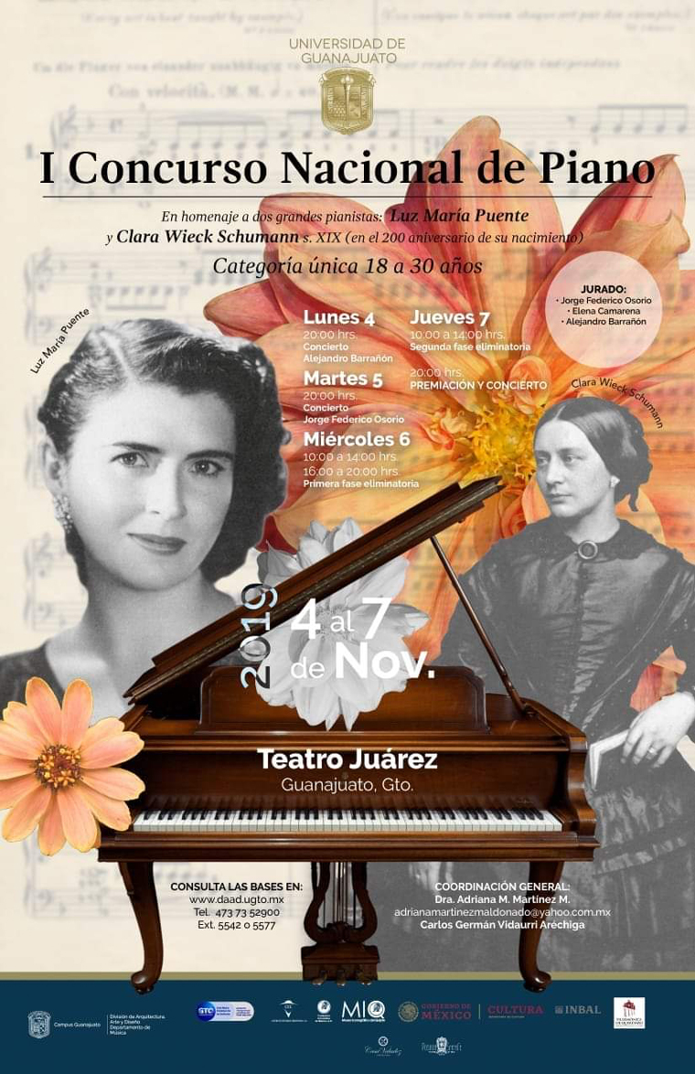 Universidad de Guanajuato: Piano Competition in honor of Clara Schumann