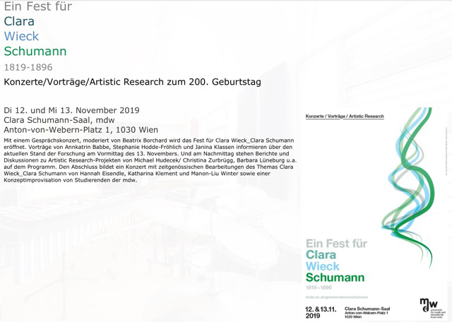 Symposium in Wien, 12./13.11.2019