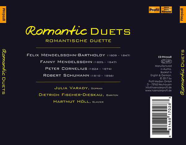 Julia Varady Romantic Duets